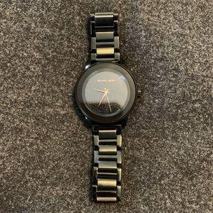 Michael Kors Black Stainless Steel Sparkle Watch